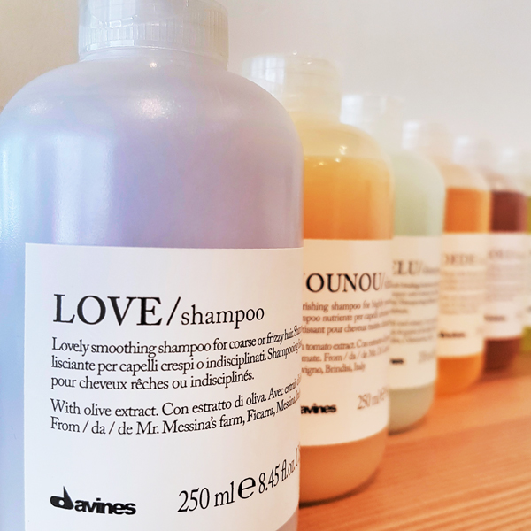 Davines Shampoo products picture on the shelf