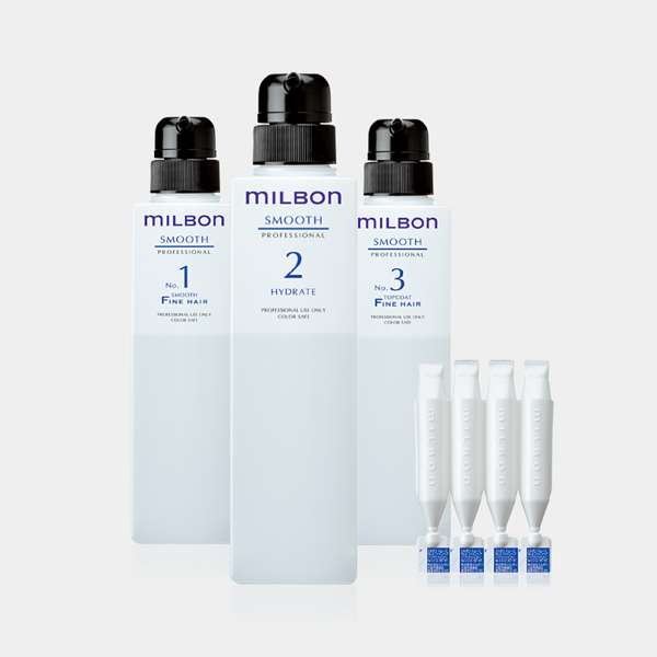 Milbon treatment products picture with white background